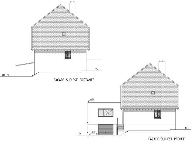 Architecte lyon extension maison tassin for Agrandissement maison rectangulaire