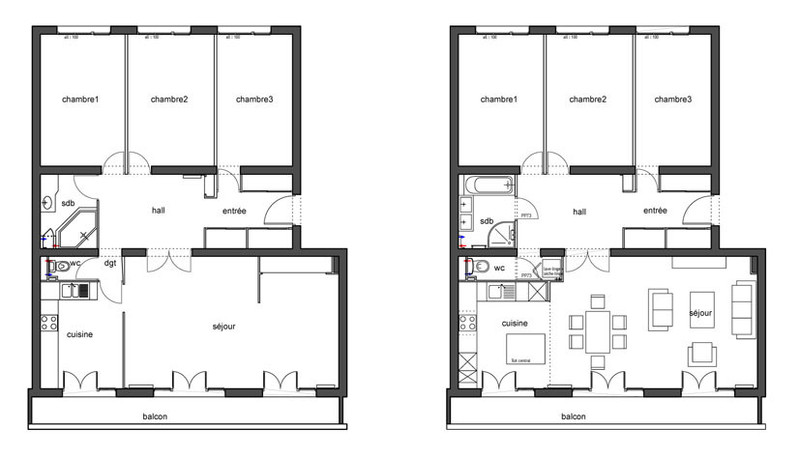 plan appartement renovation